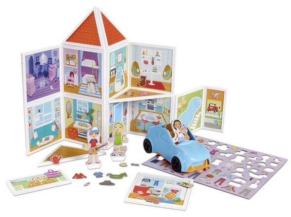 משחק הרכבה ובנייה מגנטי - הבית שלנו 100 חלקים, , large image number null