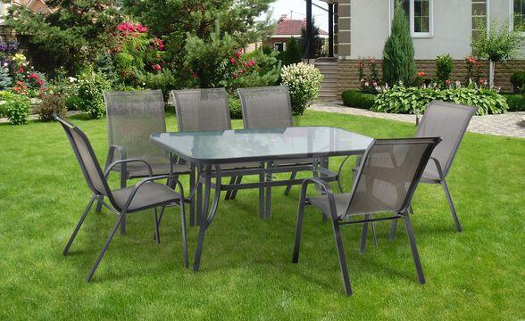 סט פינת אוכל  מפואר שולחן עם 6 כסאות לגינה דגם  Torino  תוצרת AUSTRALIA CAMP, , large image number null