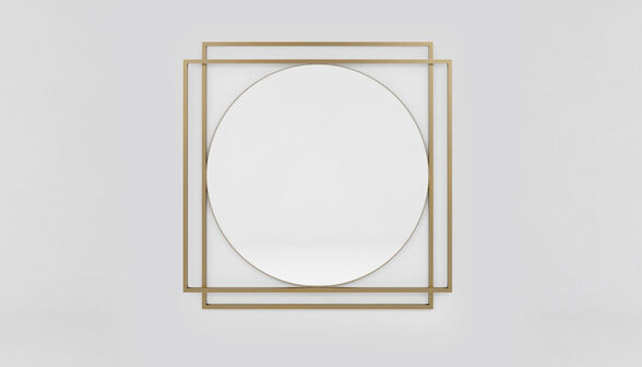 מראת קיר מעוצבת בעלת מסגרת מתכת כפולה דגם אוקספורד מבית RAZCO_מראה בשילוב מסגרת מתכת מוזהבת, , large image number null