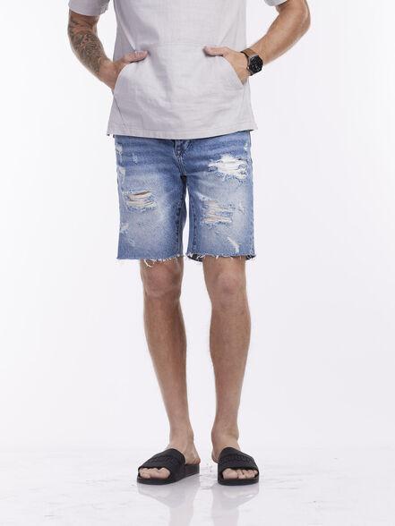 מכנסי ברמודה עם קרעים, , large image number null
