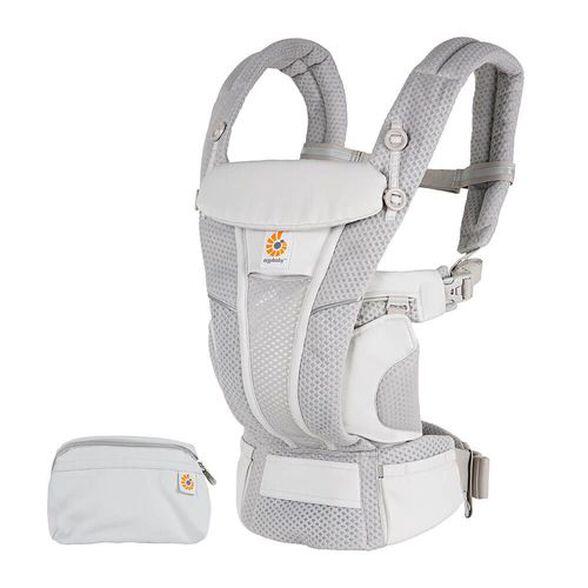מנשא אוורירי לתינוק 4 ב 1 אומני בריז Omni Breeze עם בד גמיש בעל יכולת נידוף ואיוורור מיוחדת Soft Flex - אפור בהיר Pearl Grey, , large image number null