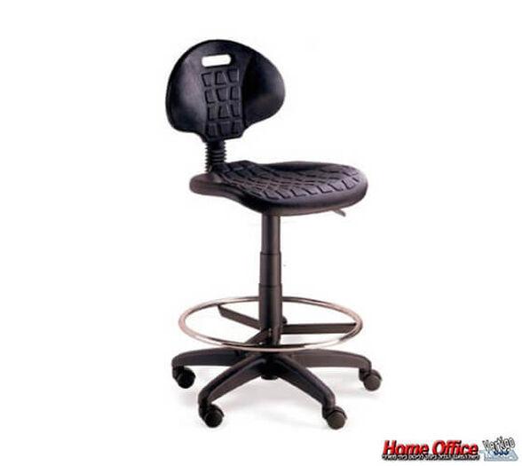 כסא קופאי וטכנאי גבוה בטיחותי עם גלגלים וחישוק לדלפקים, , large image number null
