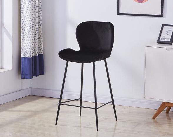 כסא בר מעוצב עם ריפוד קטיפה דגם B555 מבית TAKE IT_שחור, , large image number null