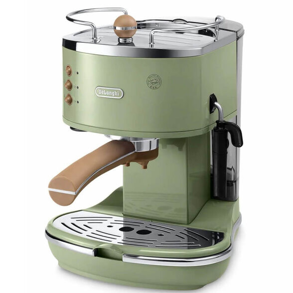 """מכונת קפה ידנית לשימוש בקפה טחון ופודים דגם ECOV311.GR מבית Delonghi   מארז קפה 2 ק""""ג DeLonghi דגם DLP255P מתנה  , , large image number null"""