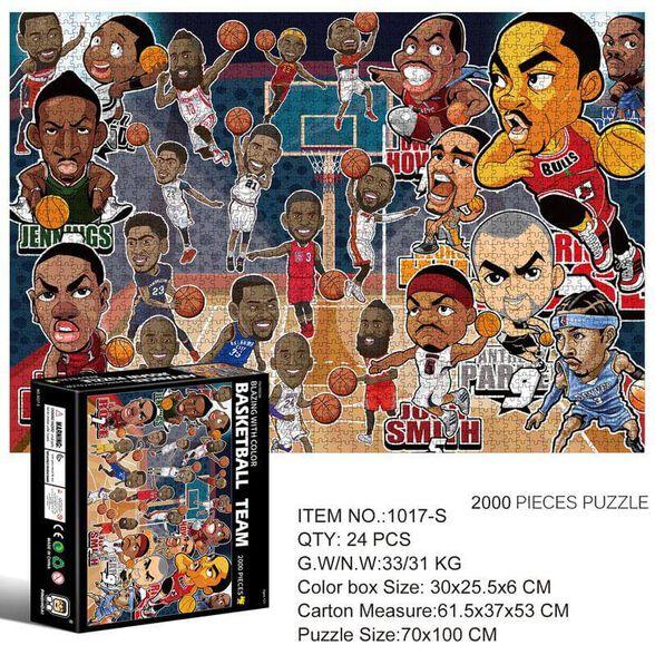 מארז 2 פאזלים 2000 חלקים_כדורסל, , large image number null
