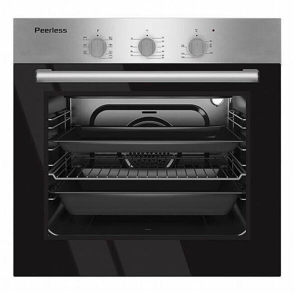תנור אפיה בנוי 60 ליטר 9 תוכניות בישול ואפייה דירוג אנרגטי A צבע נירוסטה מבית PEERLES דגם RB PR-5500 , , large image number null