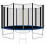 טרמפולינה בגודל 1.83 מטר 6FIT כולל רשת חיצונית + סולם 3 שלבים