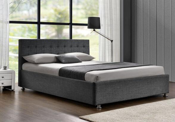 מיטה זוגית מרופדת בד מבית HOME DECOR דגם עופרה , , large image number null