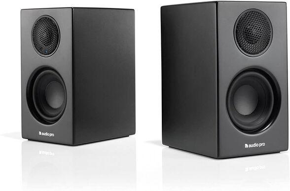 זוג רמקולים מוגברים בעלי סאונד סטריאו מדהים דגם T14 מבית Audio Pro סקנדינביה _שחור, , large image number null