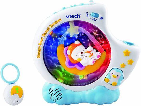 מקרן לתינוק משולב מנורת לילה עם שלט לילה דוב - כחול, , large image number null