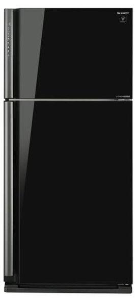 מקרר שארפ  587 ליטר נטו מקפיא עליון No-Frost עם מדחס אינוורטר ותאורת לד פנימית בגימור זכוכית שחורה דגם SJ-GP75  , , large image number null