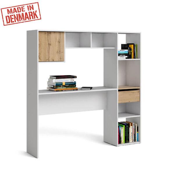 ספרייה עם שולחן כתיבה תוצרת דנמרק HOME DECOR דגם לירון , , large image number null