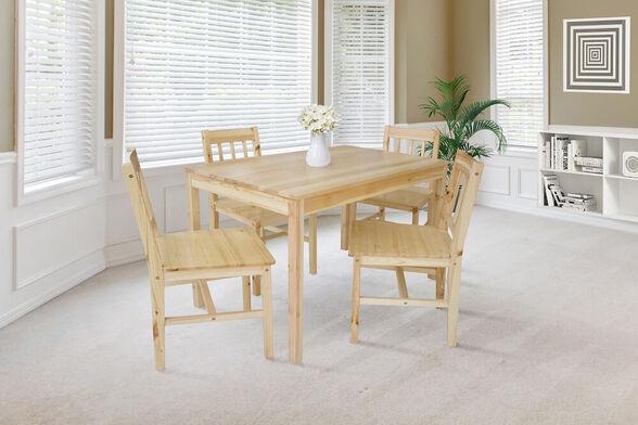 פינת אוכל + 4 כיסאות דגם RACHEL מבית GAROX, , large image number null