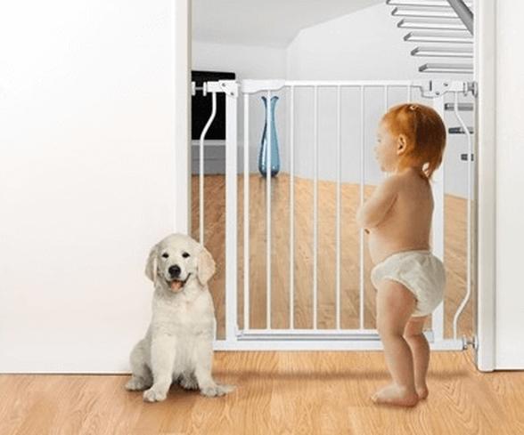 שער בטיחות ללא קדיחה עם מנגנון נעילה בטיחותי | בייבי מישל | להיט!, , large image number null