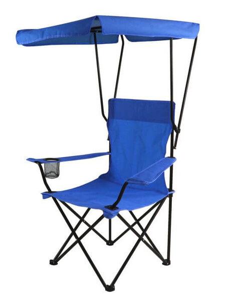 זוג כיסאות במאי מתקפלים עם גגון נגד שמש | מגיע עם תיק נשיאה, , large image number null