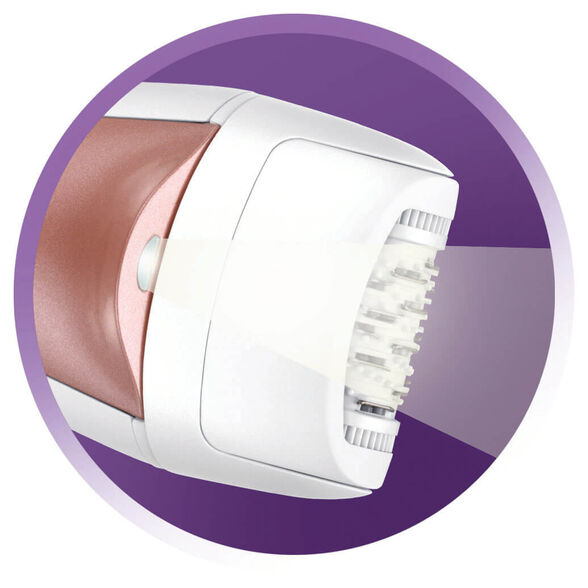 מסיר שיער חשמלי 5 ב - 1  - מסיר 60% יותר שיער במעבר אחד, בעל 2 מהירויות בהתאמה אישית ותאורת LED | מגיע בתיק אחסון , , large image number null