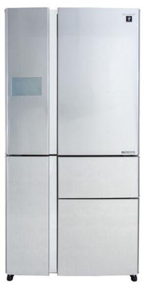 מקרר 5 דלתות  661 ליטר  היבריד No-Frost מהסדרה החדשה J-Tech Hikaru אינוורטר בגימור נירוסטה דגם  SJ-FP910  , , large image number null