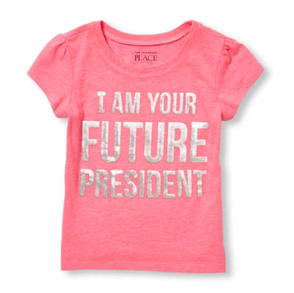 """חולצה שרוול קצר - """" I am your future president"""" מבית The Children's Place במגוון מידות לבחירה, , large image number null"""