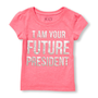 """חולצה שרוול קצר - """" I am your future president"""" מבית The Children's Place במגוון מידות לבחירה"""