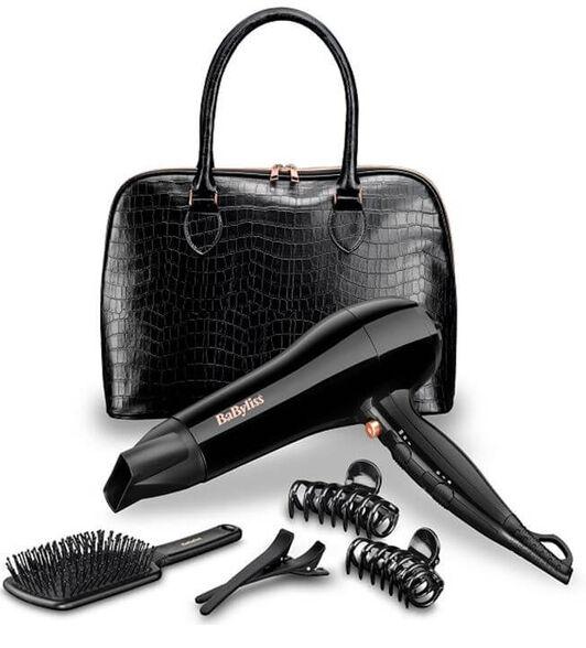 סט מהודר המכיל מייבש שיער בעל מנוע DC לייבוש מהיר, תיק יד מרווח, מברשת שיער, 2 סיכות, 2 קליפסים  , , large image number null