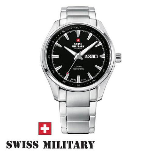 שעון יד שוויצרי לגבר מבית SWISS MILITARY עשוי פלדת אל חלד ועמיד במים עד 100M, , large image number null