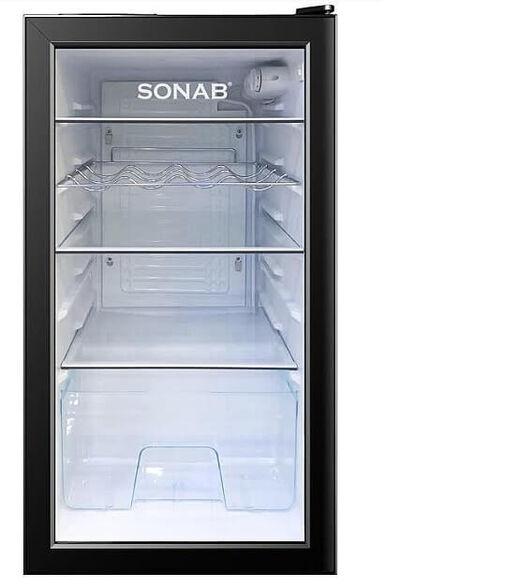 מקרר משרדי ויטרינה 90 ליטר  SONAB דגם BC-129 , , large image number null