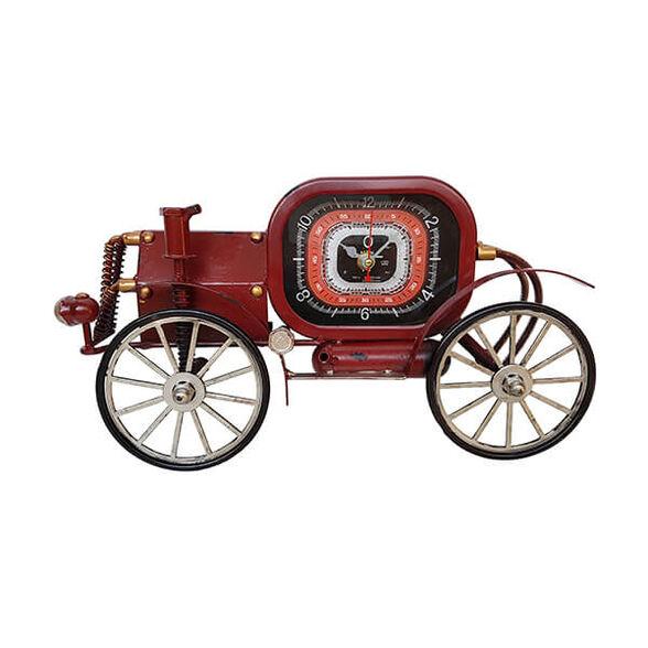 שעון קיר מתכת מכונית קיטור מיוצר בעבודת יד  | צבע לבחירה_אדום, , large image number null