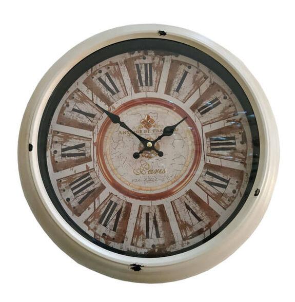 """שעון קיר בעיצוב וינטג' עם ספרות רומיות בקוטר 36 ס""""מ, , large image number null"""