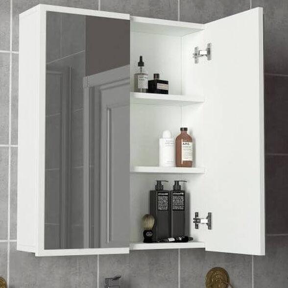 ארונית אמבטיה עם 2 דלתות ומראה דגם קיילה, , large image number null