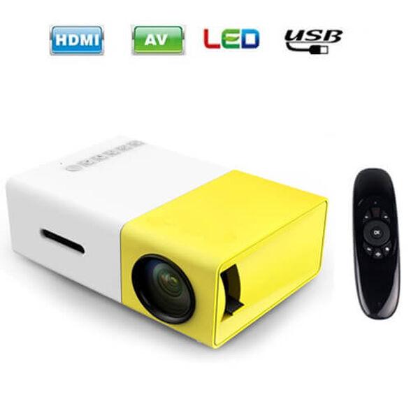 מקרן מולטימדיה מיני נייד HD , טכנולוגיית LED כולל שלט רחוק וסוללה נטענת +חיבור  HDMI, , large image number null