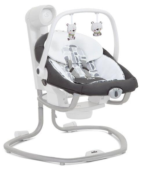 נדנדה חשמלית וטרמפולינה לתינוק סרינה 2 ב 1 - אפור כהה Logan, , large image number null