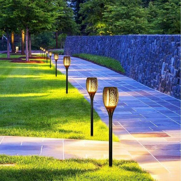 6 יח' לפיד תאורה סולארי לגינה לאווירה נעימה ולעיצוב הגינה, , large image number null