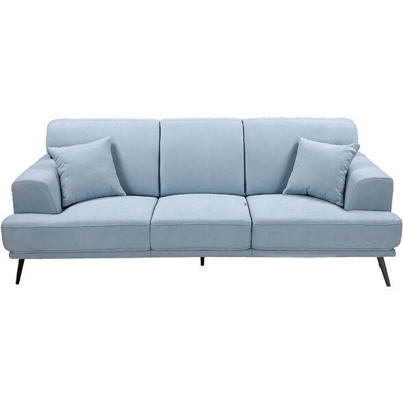 ספה תלת מושבית מעוצבת עם ריפוד דוחה נוזלים HOME DECOR _תכלת, , large image number null