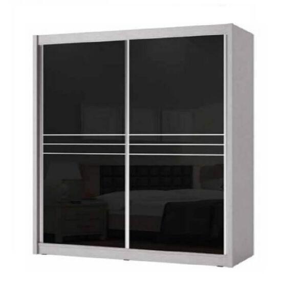 ארון הזזה 2 דלתות - דלתות זכוכית - House design - דגם ביאנקו, , large image number null