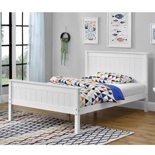 מיטה רחבה לנוער עשויה עץ מלא משולב מסדרת VERY WOOD של HOME DECOR דגם דביר 120 , , large image number null