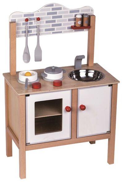 מטבח 'בואו נבשל' לילדים מעץ מלא + 8 אביזרים, , large image number null