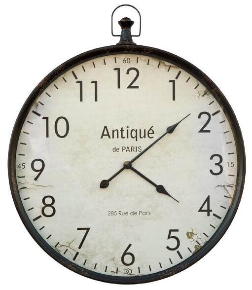שעון קיר בעיצוב שעון כיס וינטג שחור מבית TUDO DESIGN, , large image number null