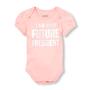 """בגד גוף שרוול קצר - """"I am your future president"""" מבית The Children's Place   במגוון מידות לבחירה"""