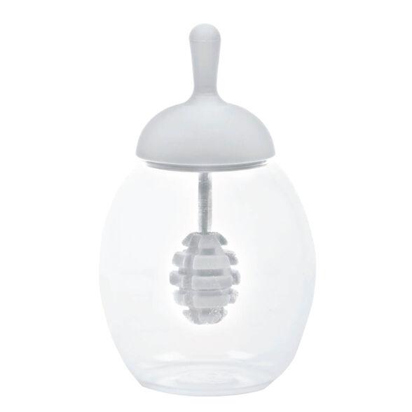 כוס זכוכית עם רודה לדבש - ליקטית | מגיע באריזת מתנה | צבע לבחירה_לבן, , large image number null