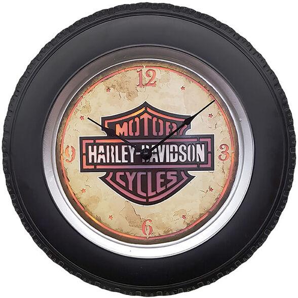 """שעון קיר HARLEY הארלי דוידסון עם תאורת לד ע""""י שלט רחוק, , large image number null"""