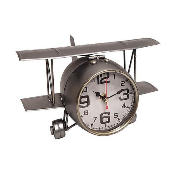 שעון שולחני בעיצוב רטרו בצורת אווירון עתיק, , large image number null
