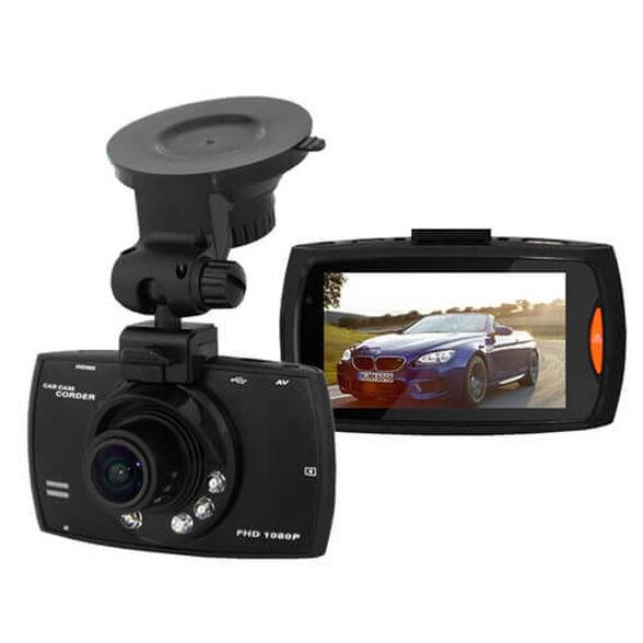 מצלמת דרך לרכב באיכות FULL HD 1080P עם מסך LCD ענק 2.7 אינץ איכותי תאורת לילה ואפשרות הקלטה בעת זיהוי תנועה , , large image number null