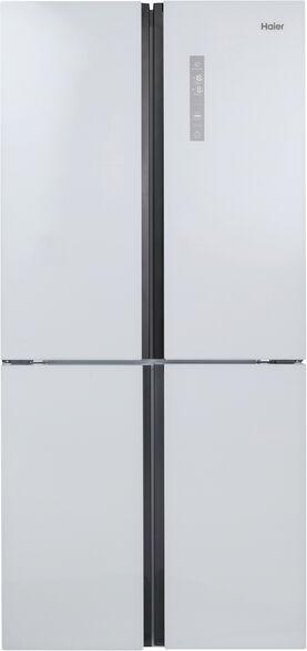 מקרר האייר 4 דלתות בנפח 547 ליטר מדחס INVERTER  דירוג אנרגטי A בגימור זכוכית לבנה דגם HRF4556FW  , , large image number null