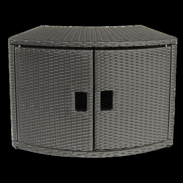 ארון נלווה לג'קוזי מבית MSPA בעיצוב מרובע דמוי קש המיועד לשמירה על חפצים, , large image number null