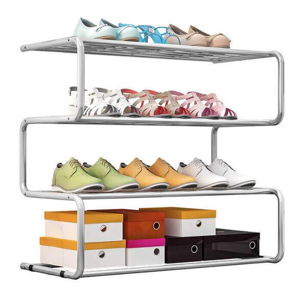 מעמד לנעליים 4 שלבים - בעיצוב זיגזג!, , large image number null