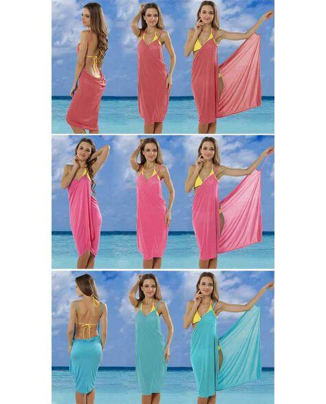 בגד חוף אקזוטי ומהמם להגנה מפני חשיפה מיותרת לשמש ולמראה עוצר נשימה | במגוון צבעים | שמלה שנייה בהנחה נוספת, , large image number null