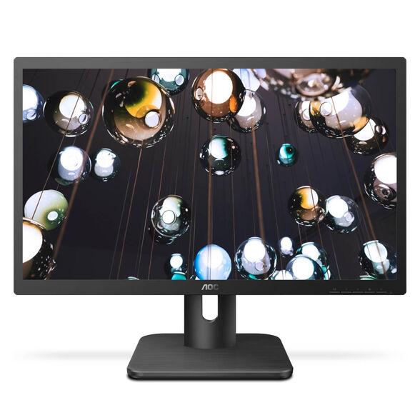 """מסך מחשב AOC 22E1D 21.5'' LED איכותי בעל רזולוציה של FHD בגודל """"21.5, עם חיבורי DVI ,VGA ו-HDMI, יחס ניגודיות גבוה, רמקולים מובנים ואפשרות תליה על הקיר , , large image number null"""
