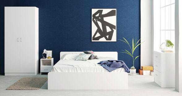 חדר שינה דגם ROYAL מבית MY CASA הכולל מיטה + 2 שידות צד + טואלט + ארון 2 דלתות פתיחה, , large image number null