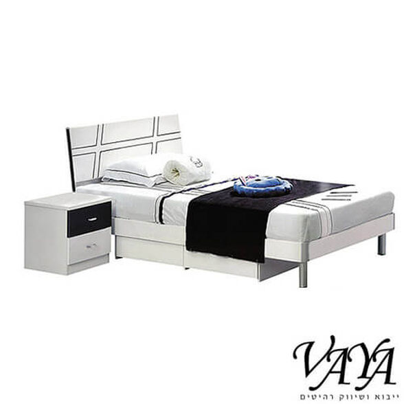 מיטה וחצי מעץ MDF איכותית וחזקה המיועדת לנוער ולילדים, כולל שידה עם שתי מגירות, , large image number null
