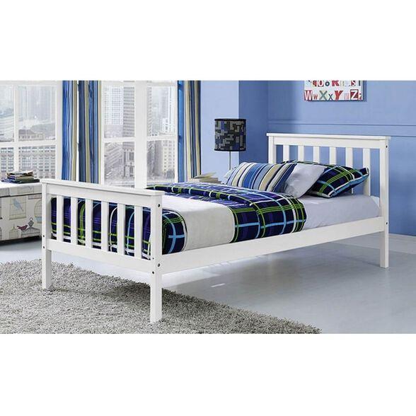"""מיטת יחיד לילדים ונוער מעץ מלא למזרן 90*190 ס""""מ דגם PROSPER מבית BRADEX, , large image number null"""